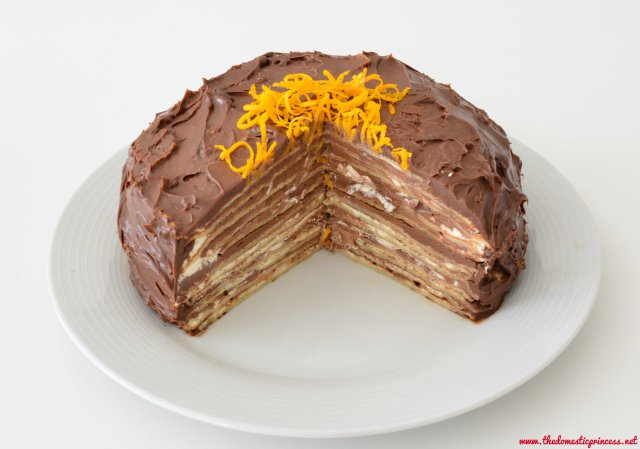 Chocolate Orange Pancake Cake